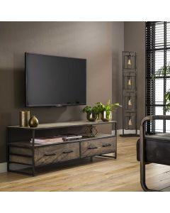 Tv-meubel Turf 135 cm breed grijs acaciahout