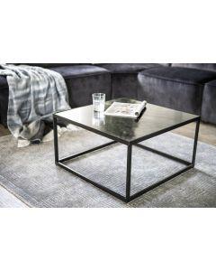 Vierkante salontafel Eleonora zwart marmer 70 x 70 x 38