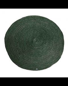 Vloerkleed 100% jute By-boo  rond 120cm doorsnee groen