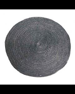 Vloerkleed 100% jute By-boo rond 120 cm doorsnee grijs