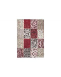 vloerkleed vintage patchwork rood in vele maten leverbaar