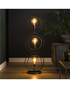 Vloerlamp 3L Turn Around charcoal metaal