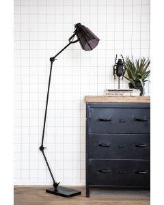 vloerlamp Apollo By-Boo zwart metaal verstelbaar