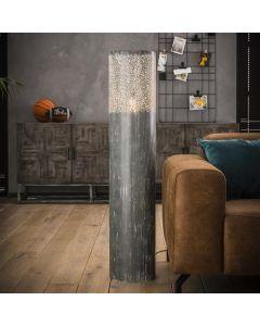 Vloerlamp Cilinder 120 cm hoog betonlook grijs