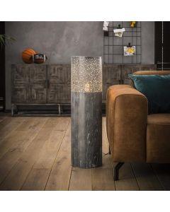 Vloerlamp Cilinder 90 cm hoog betonlook grijs