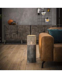 Vloerlamp Cylinder 60 cm lichtgrijze betonlook