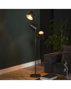 Vloerlamp Kinetic 3L Charcoal metaal