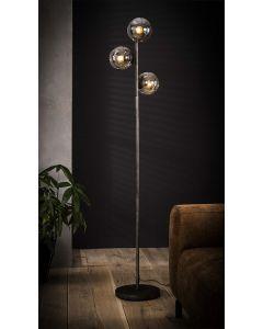 Industriële vloerlamp 3x ronde bol aan
