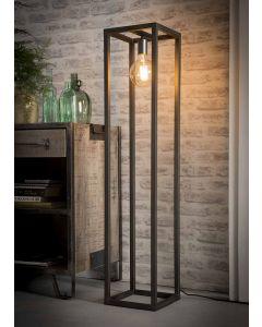 Industriële vloerlamp 25 x 25 vierkante buis 1L aan