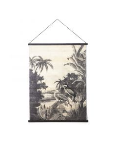 Wanddecoratie bamboe Miyagi jungle large By-Boo 120 x 90