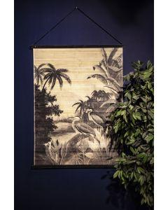Wanddecoratie bamboe Miyagi jungle large By-Boo 120 x 90