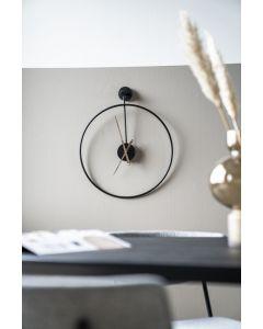 Wandklok Sundial zwart metaal small