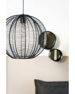 Zwarte metalen hanglamp Floss By-Boo