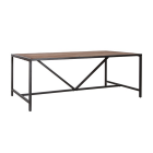 Eettafel Soho mangohout en zwart metalen frame.