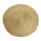Vloerkleed 100% jute By-boo rond 120cm doorsnee geel