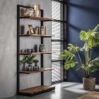Wandkast Natural Edge 90 cm breed acaciahout & zwart metaal